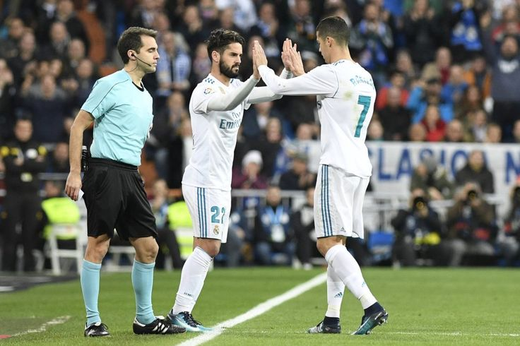 Isco and Cris! LaLiga 2017-18....FT: RM (5)-Sevilla (0)// good game today❤️ Hala Madrid!!💘💘