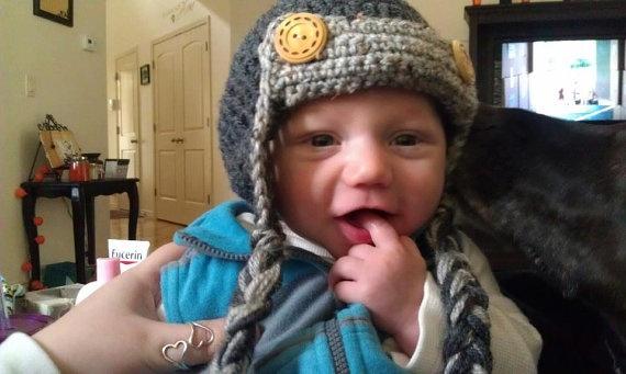 Aviator Hat by Grandmaspleasures on Etsy, $15.00