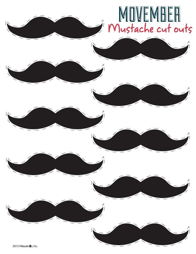 Fabulous image in free printable mustache