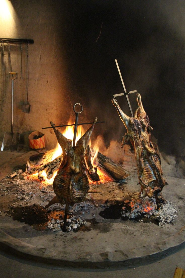 BBQ idea - Asado gaucho en Patagonia