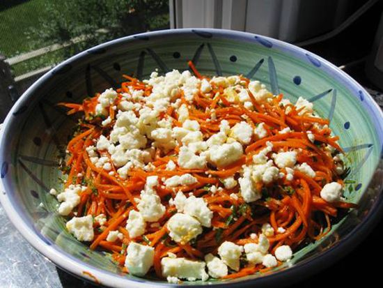 A simple side salad packed with sunshine flavours, from cumin, cinnamon and coriander, to lemons, sultanas and cheese