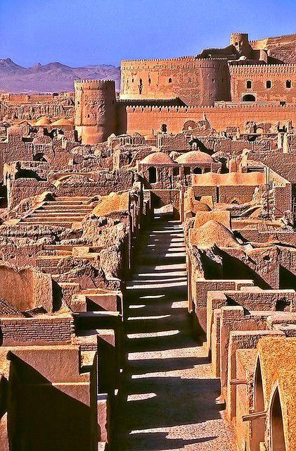 Arg-é Bam (Bam Citadel) in Bam, Iran.