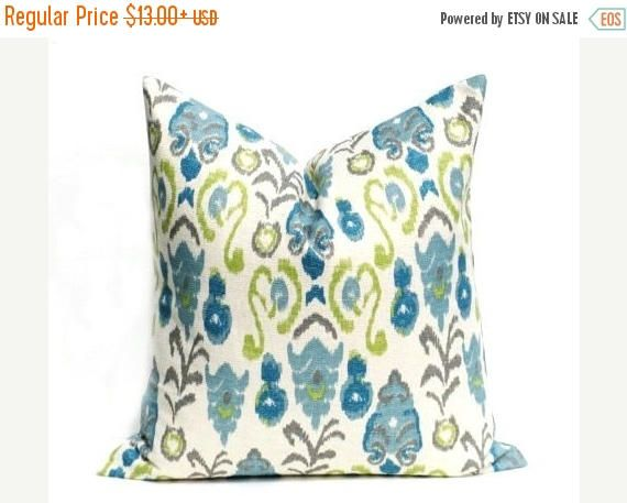 15% Off Sale Pillows, Decorative Pillow Cover,Ikat Pillow  Blue Pillows Blue Pillow  throw pillow covers Ikat  Accent pillow  Throw Pillows