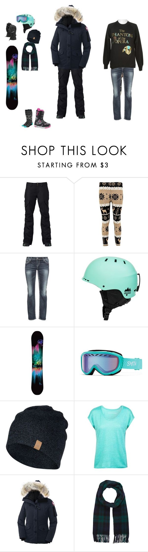 """Untitled #339"" by rebecca-568 ❤ liked on Polyvore featuring Burton, Silver Jeans Co., Quiksilver, Comptoir Des Cotonniers, Canada Goose and Drakes London"