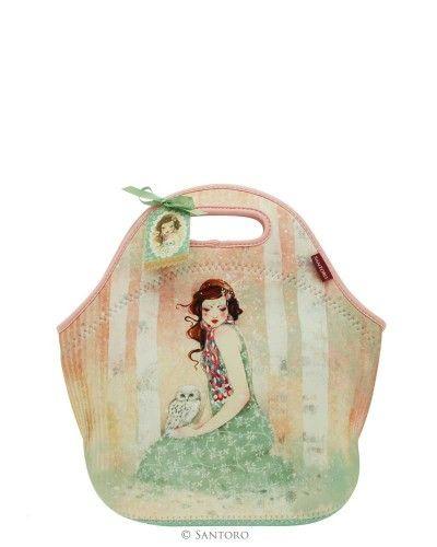Neoprene Lunch Bag - Mademoiselle Snow, Willow from Santoro