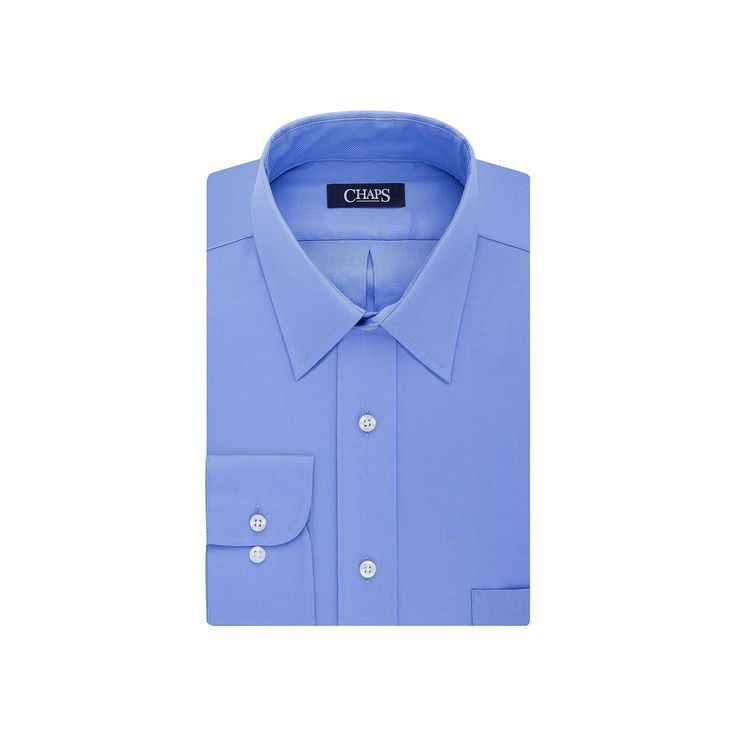 Chaps men 39 s regular fit wrinkle free stretch collar dress for How to stretch a dress shirt