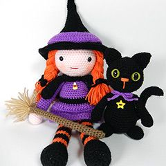 Morgana and Soots amigurumi crochet pattern by Janine Holmes at Moji-Moji Design