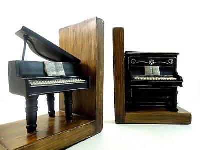 17 best images about music bookends on pinterest pedestal music notes and french horn - Piano bookends ...