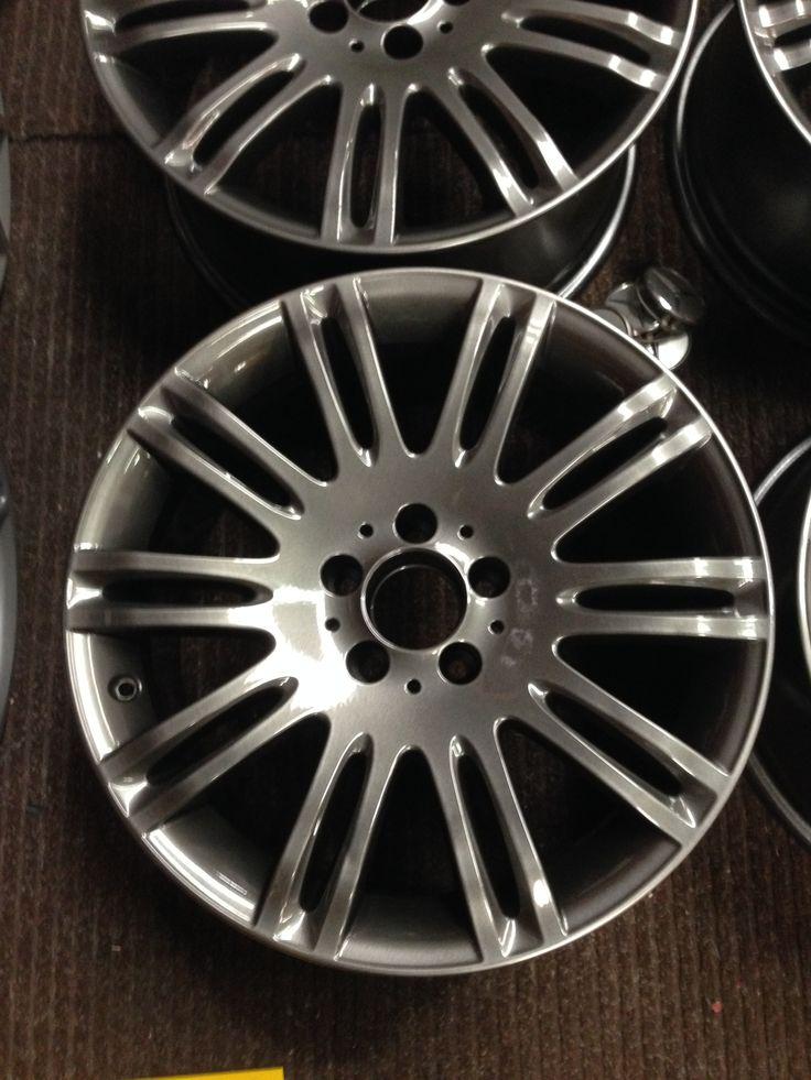 marcedes wheels done in gunmetal grey by donegalpowdercoating company