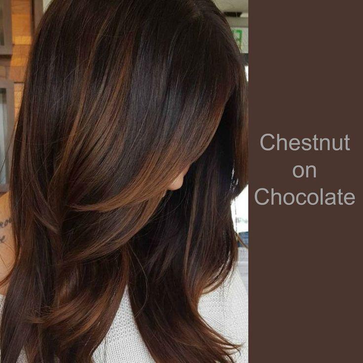 Chestnut on Chocolate hair