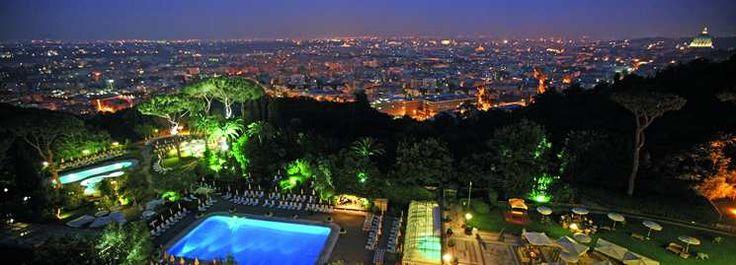 Waldorf=Astoria Rome Cavalieri hotel Aerial View of