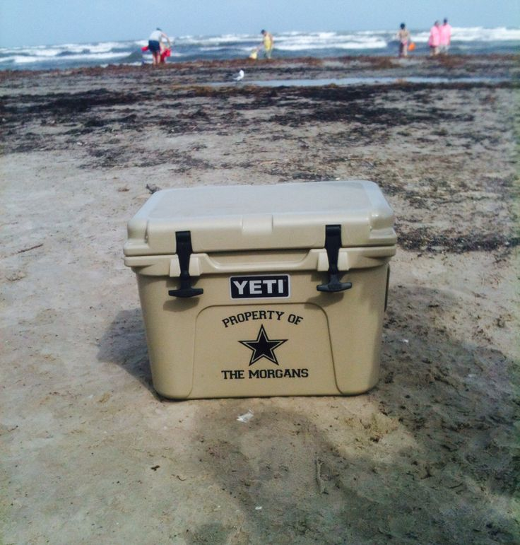 Custom Decal For Yeti Cooler At The Beach Yeti Coolers