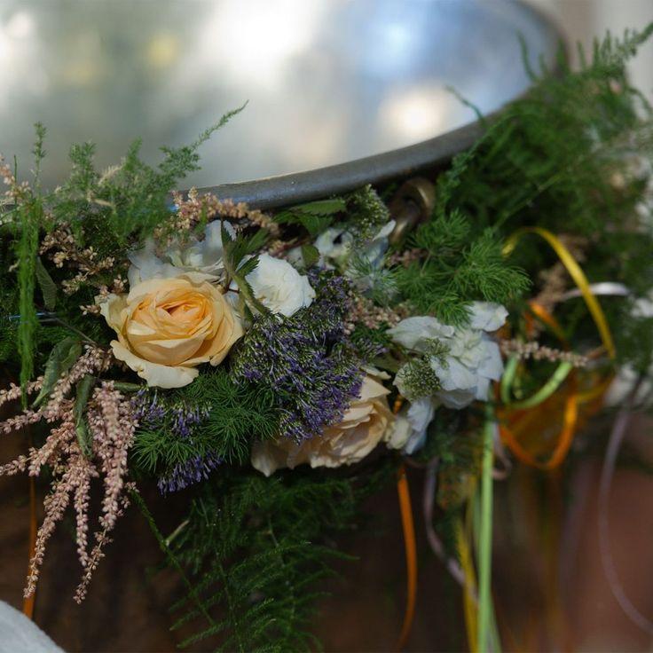 κολυμπήθρα στολισμος wild flowers theme for baptism