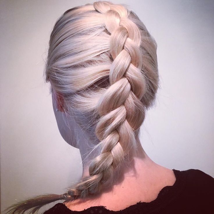 Simple #threestrand #dutchbraid #hair #hairstyle #braids #hairdo #blond #blonde