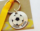 Soccer Coach Key Chain Soccer Coach Gift Personalized Key Chain Sports Keychain