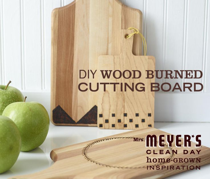 Add a personal touch to a wood cutting board with this transformative DIY from our friends at Design*Sponge. Add your favorite Mrs. Meyer's Clean Day Hand Soap for a great hostess gift.