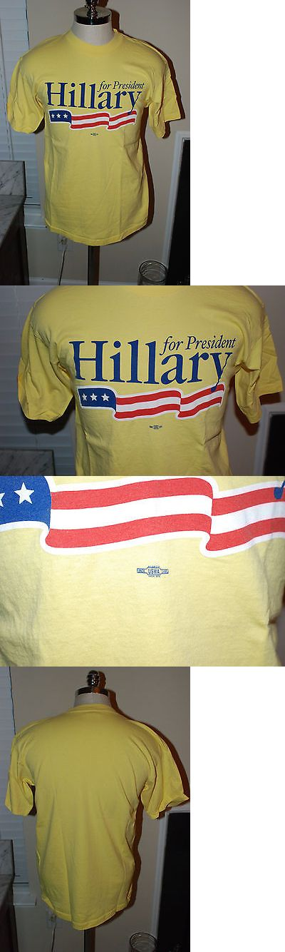 Hillary Clinton: Hillary Clinton For President 2008 Men S Large T Shirt Usa -> BUY IT NOW ONLY: $21 on eBay!