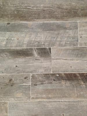 Shop Style Selections Natural Timber Ash Glazed Porcelain Indoor/Outdoor Floor  Tile (Common: