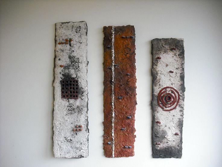 Triptych Ceramic wall object (85x79 cm)