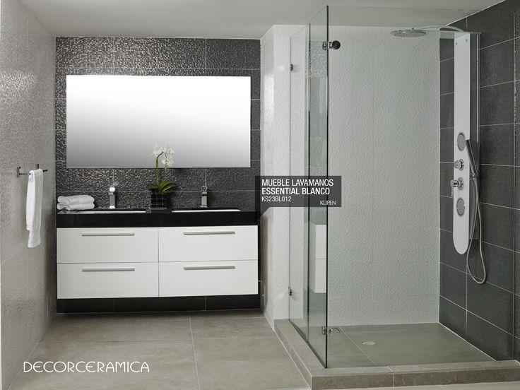 Muebles Para Baño Klipen:Mueble lavamanos Essential, blanco-negro, de KLIPEN El confort y el