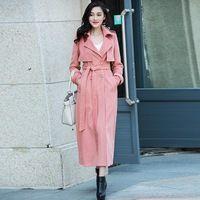 2017 Новая Мода Женщин Тонкий Двойной Брестед Длинные Плащи Отдыха Шерстяные Куртки Плюс Размер Длинные Пальто
