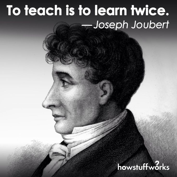 To teach is to learn twice. - YouTube