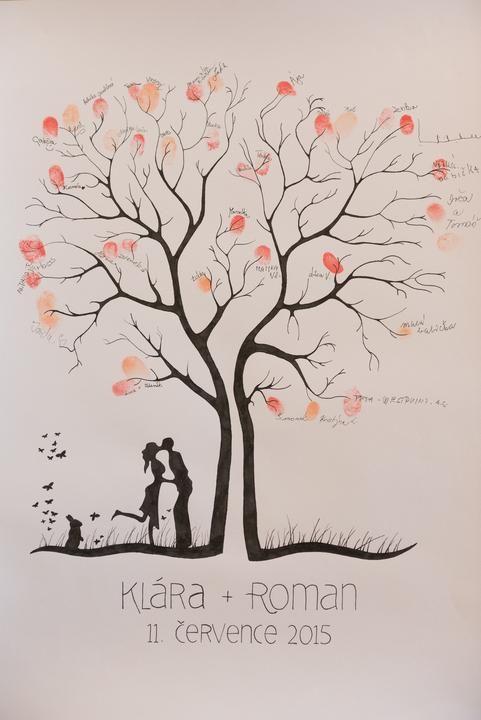 Náš perfektní svatební strom i s našim ušákem :)