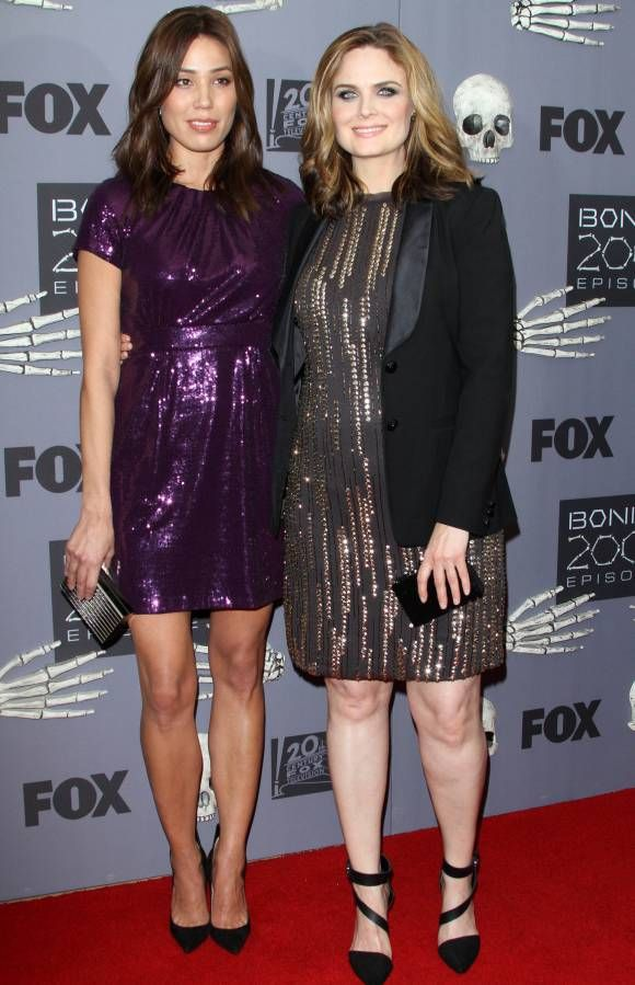 Emily Deschanel (right) is expecting her second child with husband David Hornsby in 2015.