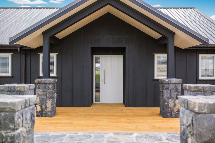 Fabulous portico entry with elaborate stone work