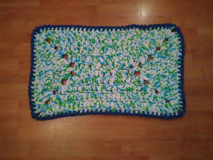 Crochet Rug Green
