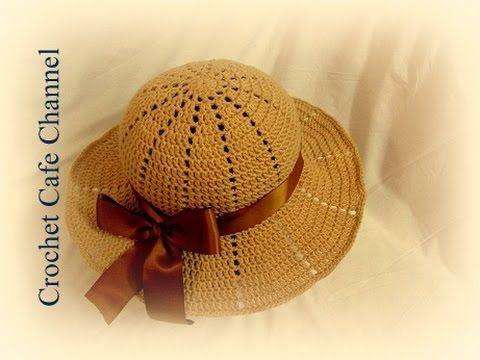 كروشيه قبعة للشمس Chapeau | #كروشيه كافيه# - YouTube