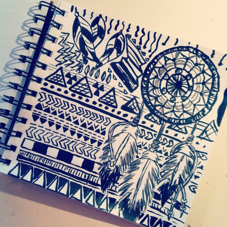 aztec drawing