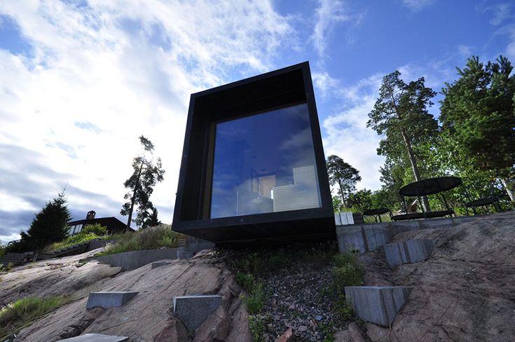Sauna for a villa on Tranholmen, by Hultman Vogt.