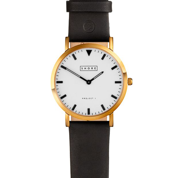 St Ives by Shore Projects (gold/black) now available at Dezeen Watch Store: