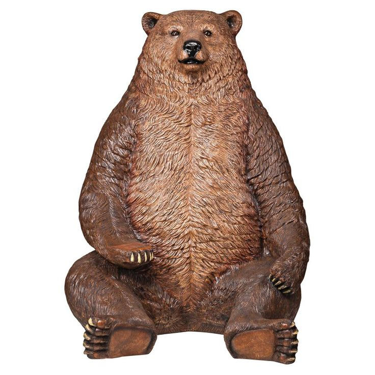 Design Toscano Sitting Pretty Oversized Brown Bear Statue with Paw Seat - NE130011