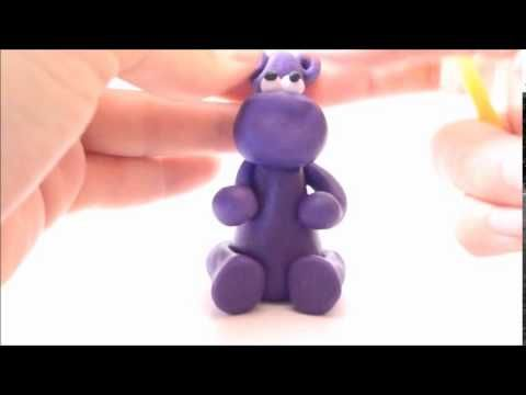 Jak ulepić hipopotama ?  How to do with modeling clay hippo
