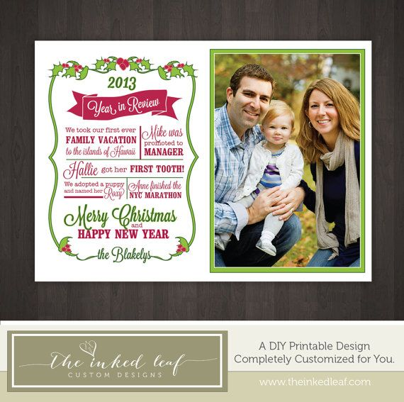 Best Year In Review Christmas Cards Images On