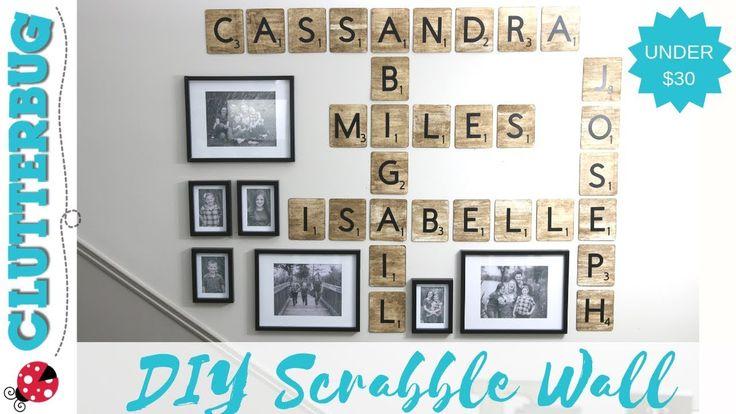 DIY Scrabble Tiles- Dollar Store DIY Decor Idea