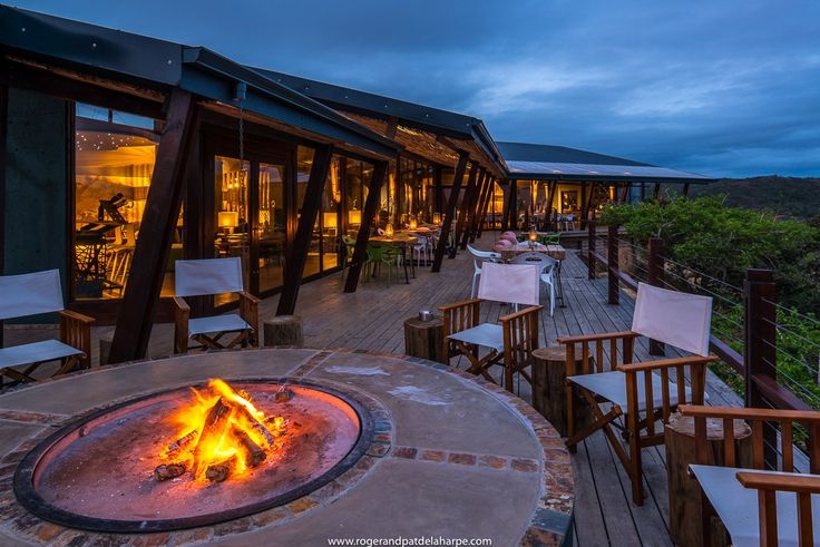 Rhino Ridge Safari Lodge in the Hluhluwe iMfolozi Park. KwaZulu Natal. South African See more of our work at http://www.rogerandpatdelaharpe.com