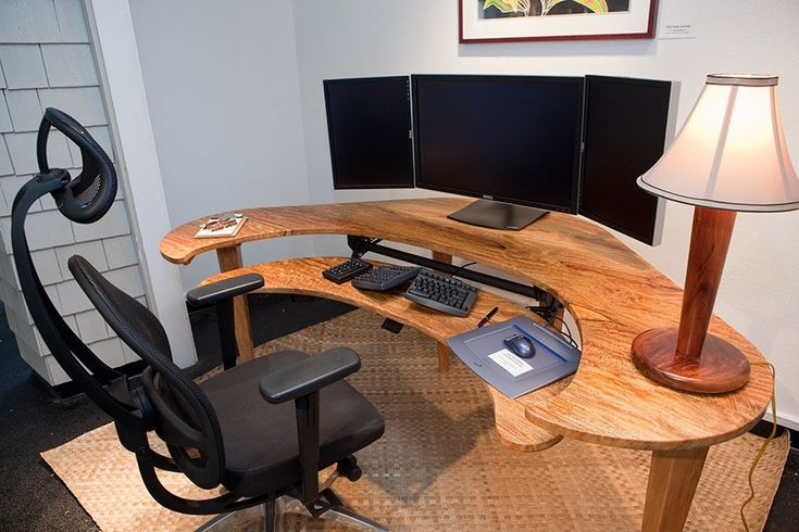 Custom computer desk tech accessories pinterest the for Unique computer desk ideas
