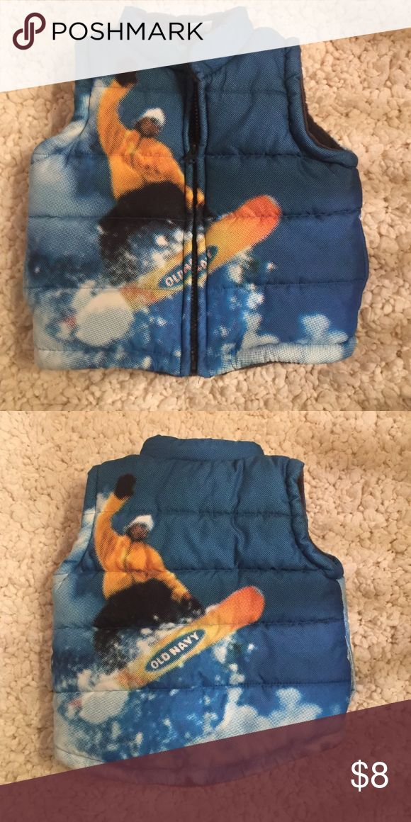 Old Navy puffer vest Snowboarding themed little boys puffer vest Old Navy Jackets & Coats Vests