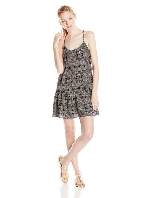 Click here:    Roxy Juniors Like It's Hot Drop Waist Dress, True Black Tribal, Large