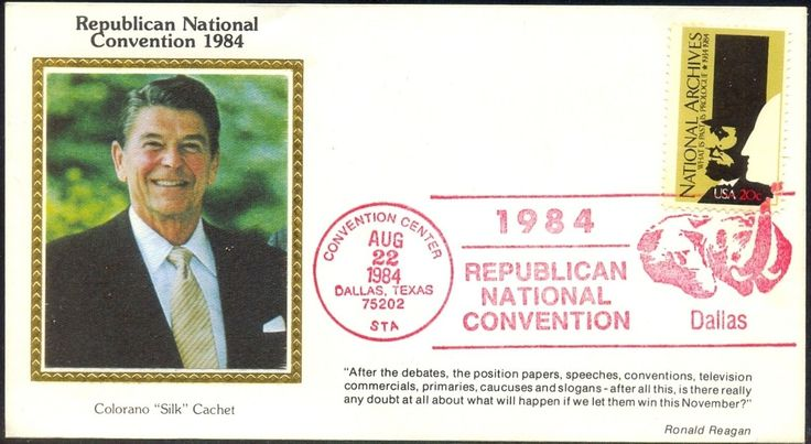 USA 1984 Silk Cover President Election Republican National Convention Regan…