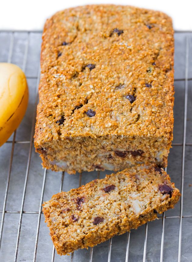 Secret banana bread recipe from @choccoveredkt… impossibly made with no flour, can be modified to fit different diets. Full recipe: http://chocolatecoveredkatie.com/2015/09/28/flourless-banana-bread-recipe/