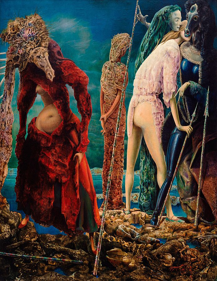 Max Ernst b. 1891, Brühl, Germany; d. 1976, Paris  TITLE  The Antipope  DATE  December 1941–March 1942  MEDIUM  Oil on canvas