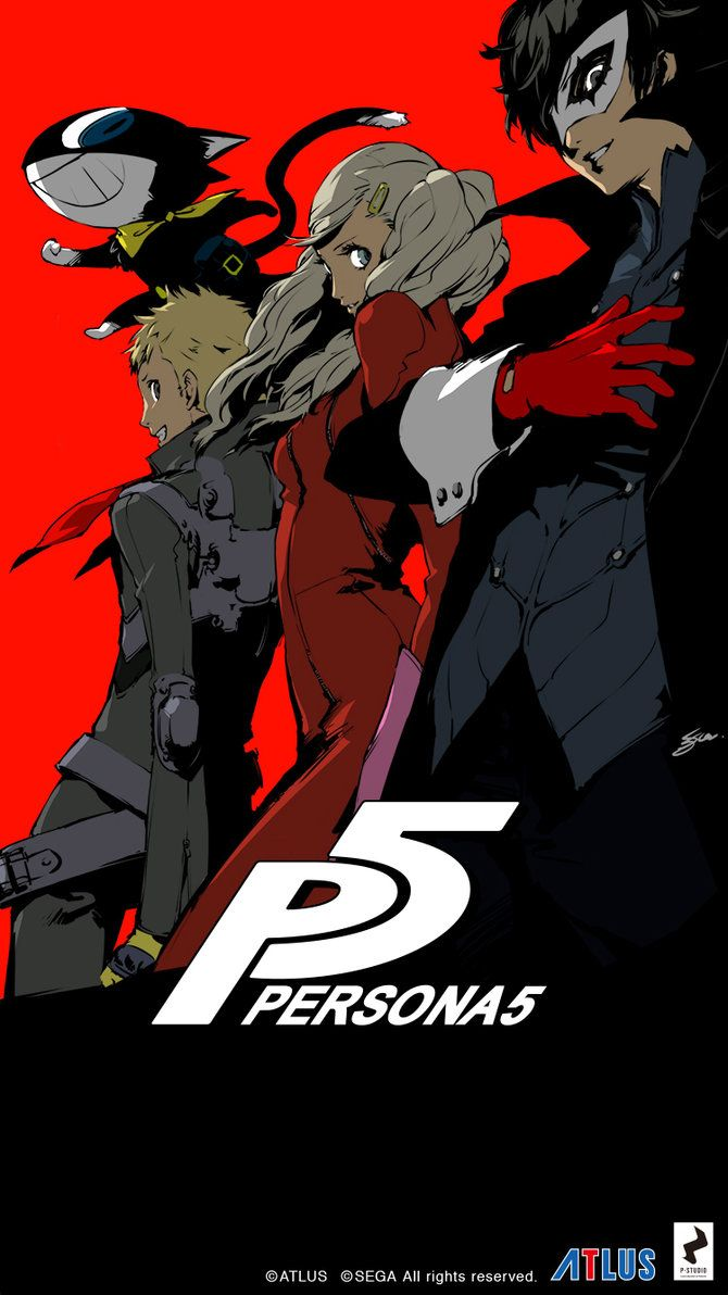 Persona 5 Iphone 6 Wallpaper Colored Version By Lazyaxolotl On