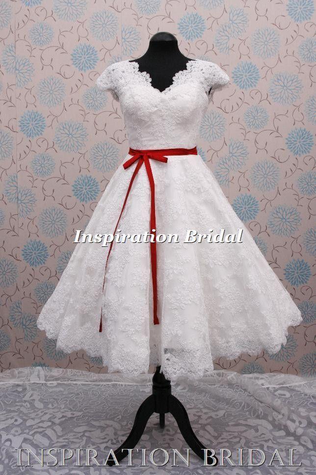 Best 65 Short 50s 60s Wedding Dress images on Pinterest | Short ...