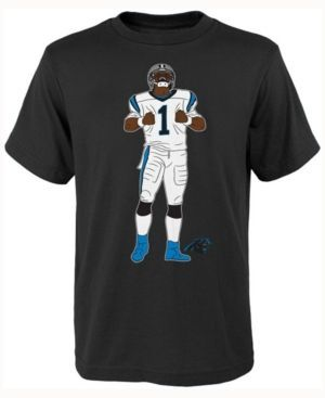 Outerstuff Kids' Cam Newton Carolina Panthers Celebration Pose T-Shirt  - Black XL