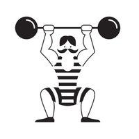 Gewichtheber, schwarz, Velours-Motiv zum Aufbügeln - PeppAuf.de (Cool Crafts For Summer)