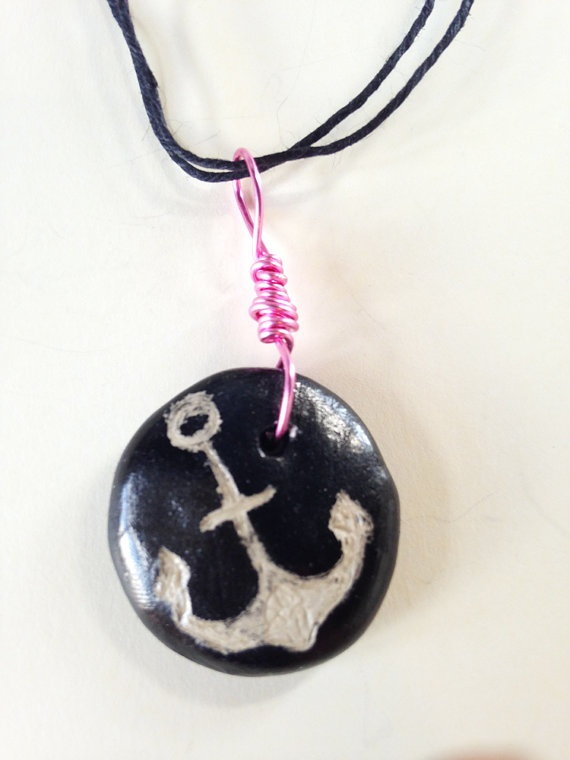 Nautical Necklace Pendant by JoleneMackieArt on Etsy, $20.00